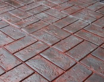 Basketweave Used Brick Stamp