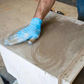 Probably the best picture of concrete countertop slurry that we could find