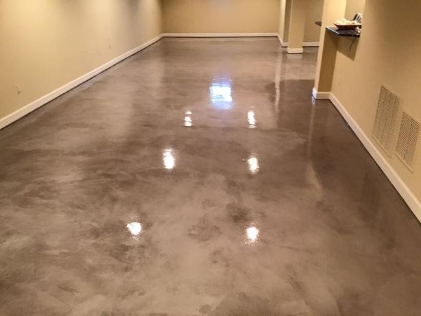 flooring coating image ironwood epoxy free of metallic fl floor in residential tampa coatings estimate job