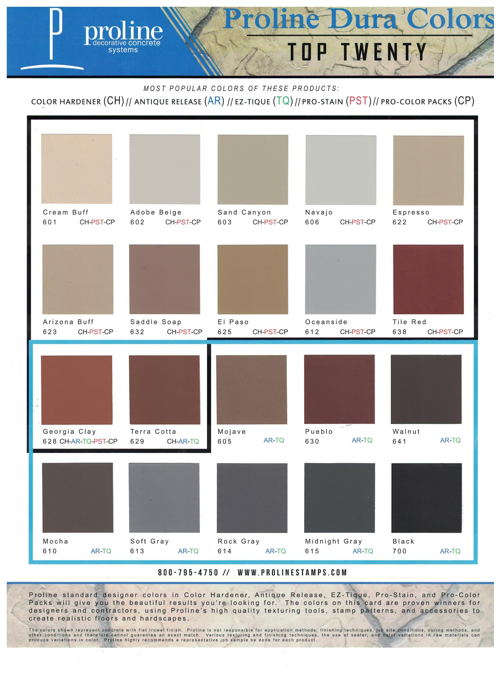 Proline Color Hardener Rcs Contractor Supplies